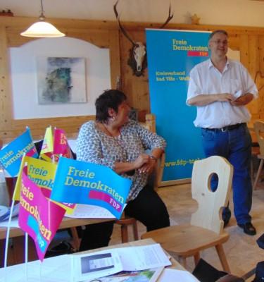 Bild: Landesvorsitzende Liberaler Mittelstand Bayern Uschi Lex und Bundestagskandidat Fritz Haugg