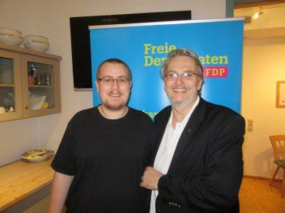 Fritz Haugg (rechts) und Daniel Reuter (links)