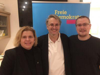 Sandra Bubendorfer, Fritz Haugg und Daniel Reuter (v. links n. rechts)